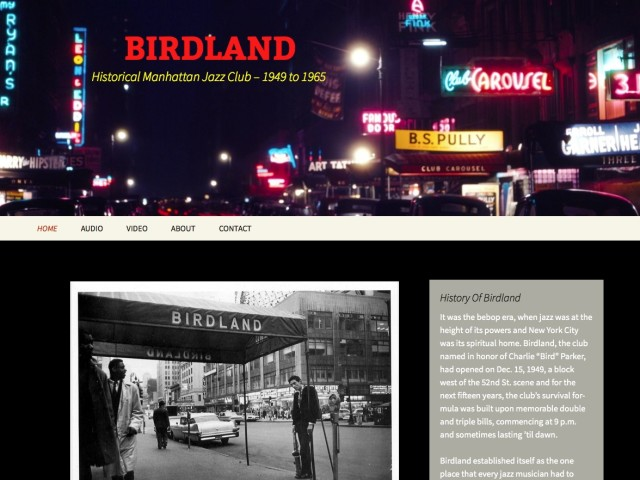 Birdland – Historical Jazz Club